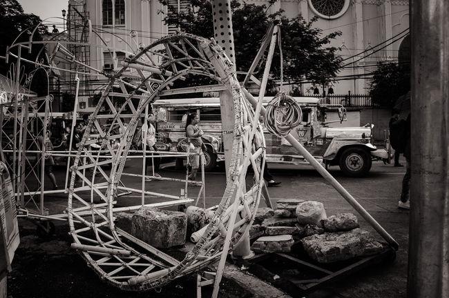 potpourri of things on the street. Everyday Scene Jeepney Manila Monochrome Philippines Street Photography