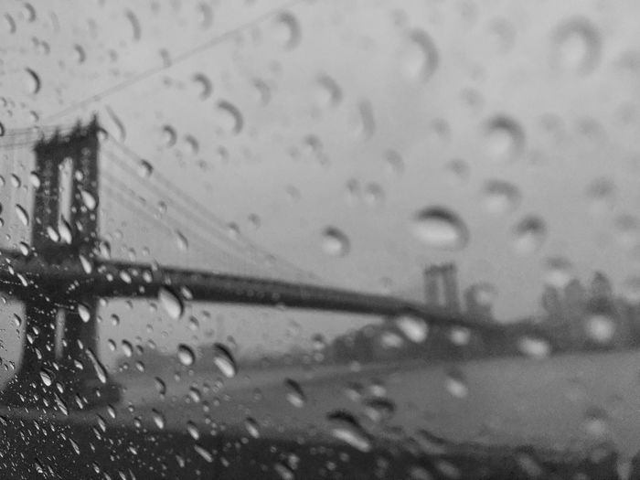 Wet Indoors  Water Rain Window No People Brooklyn Bridge / New York Streetphotography Streetphoto_bw B&w Black And White Taxi Driver Color Of Business Monochrome Photography