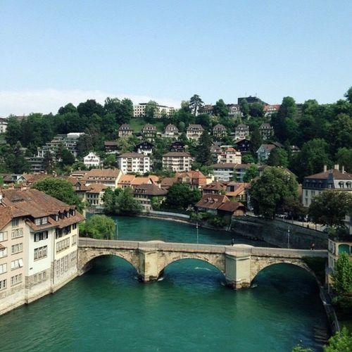 View Architecture Travel Lifestyles Outdoors Switzerland River City Bridge