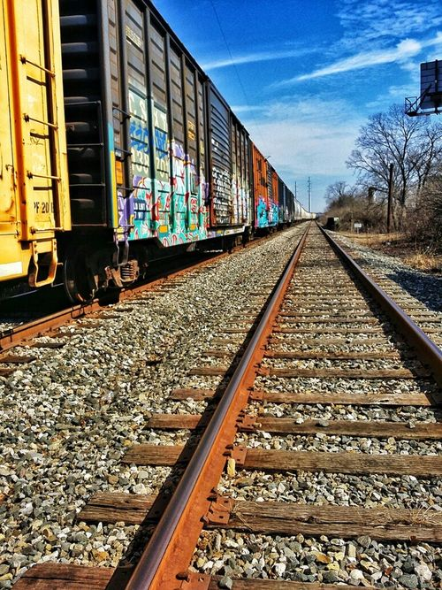 Railroad Tracks Train Graffiti  Check This Out Eye4photography