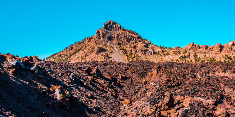 Arid Climate Desert Landscape Mountain Orange Red Rock Rocky Senic Teide Tenerife Vulcano Warm