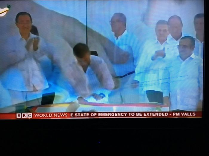 People Men Human Hand Standing Mature Adult And Corruption Of Peace Deals Of Colombian Government