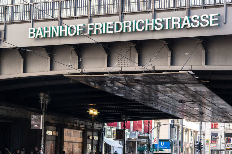 Berlin, Germany - March 19, 2018: Friedrichstrasse Bahnhof station sign. Berlin Friedrichstraße is a railway station located on Friedrichstrasse, a major north-south street in Mitte district of Berlin Berlin Berlin Friedrichstraße Berlin Station Friedrichstrasse Friedrichstrasse Berlin Friedrichstrasse Station S-Bahn Berlin S-Bahn Sign S-Bahn Station S-bahn Transport Transportation U-Bahn U-Bahn Berlin U-Bahnhof Underground Station  Friedrichstrasseberlin Friedrichstrasse Germany Railway Railway Station S-bahnhof Sbahn Train Train Station