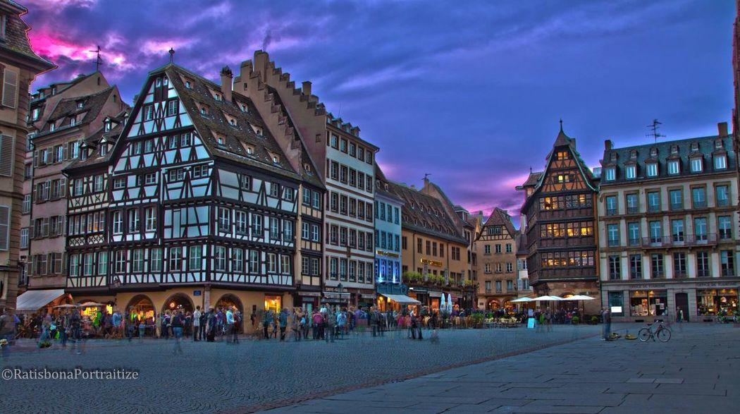 Oldtown Straßburg Straßbourg Old Buildings Domplatz Nightphotography Evening HDR