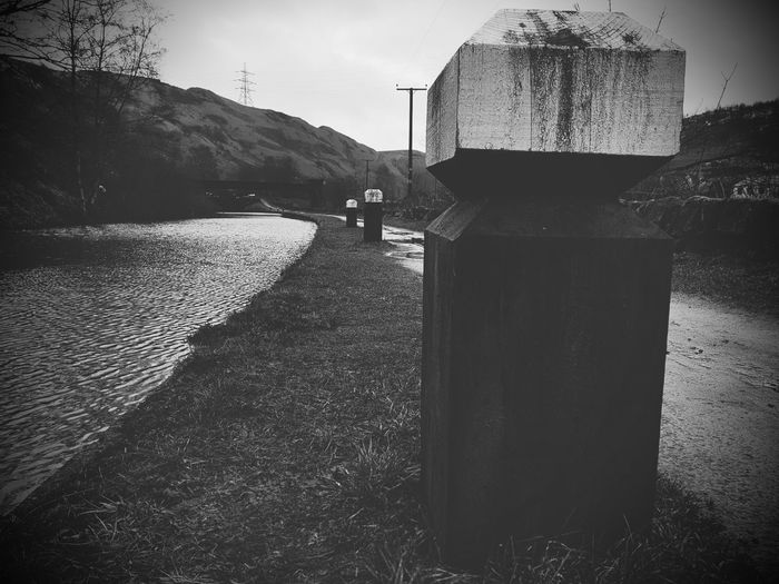 tow path Blackandwhite Photography Black And White Canal Water Pathway Outdoors Water No People Day Nature Sky
