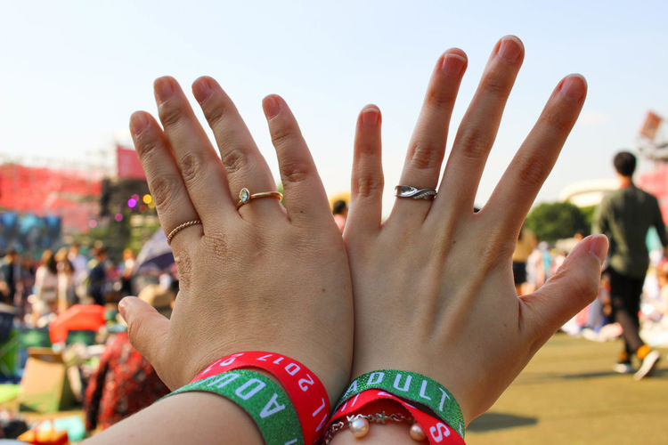 Close-up Day Focus On Foreground Friendship Hands Human Body Part Human Hand Incidental People Large Group Of People Lifestyles Love Men Outdoors People Real People Togetherness Women
