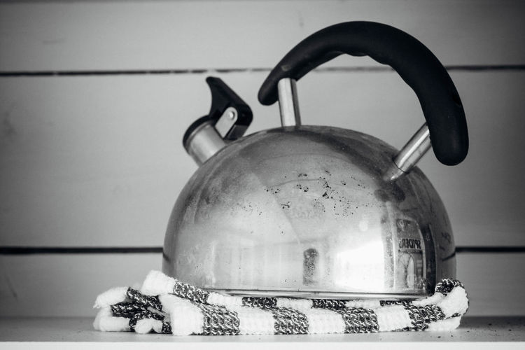 Blackandwhite Close-up Domestic Life Focus On Foreground Indoors  Kettle No People Old Still Life Monochrome Photography