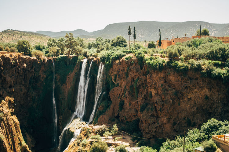 The Ouzoud Falls in Morocco. Africa Atlas Landscape Morocco Nature Ouzoud Ouzoud Falls Summer Waterfall