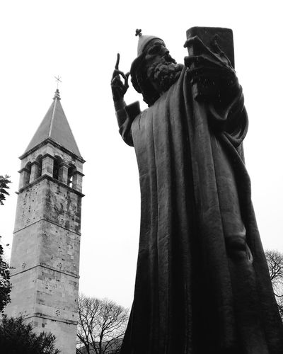 Statue of the bishop Grgur Ninski, located in Split Croatia Split Hrvatska Croatia
