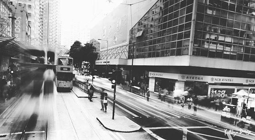 POD 16/366: Fast paced life This week's theme: Monochrome Photochallenge Longexposure Fujifilmph Fujifilm Hk Sweetnovember  XA1 Travel Tram City