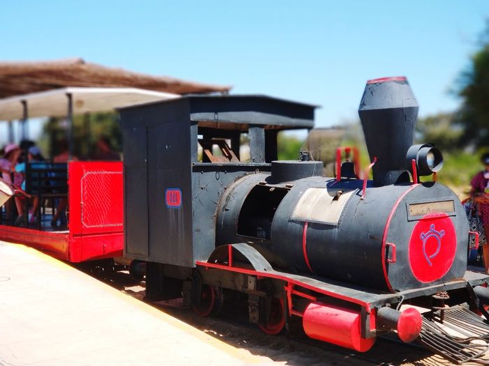 Old beach train EyeEm Selects Praia Do Barril Tavira Locomotive Steam Train Train - Vehicle Clear Sky Old-fashioned Sky Railroad Track Rail Transportation