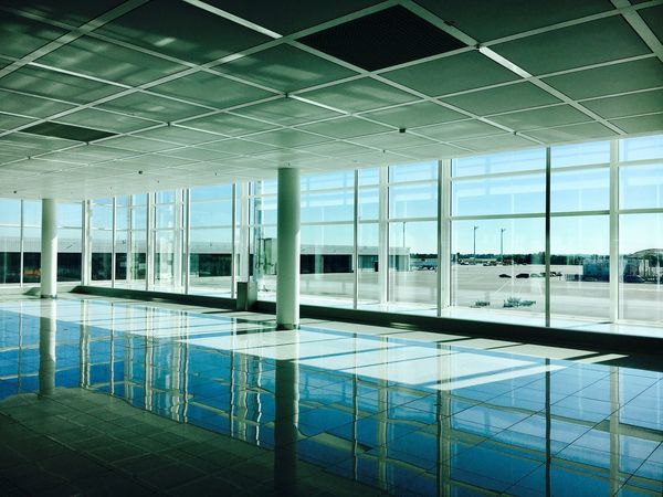 Indoors  Architecture Modern Window No People Day Built Structure Sky Airport Munich Terminal2