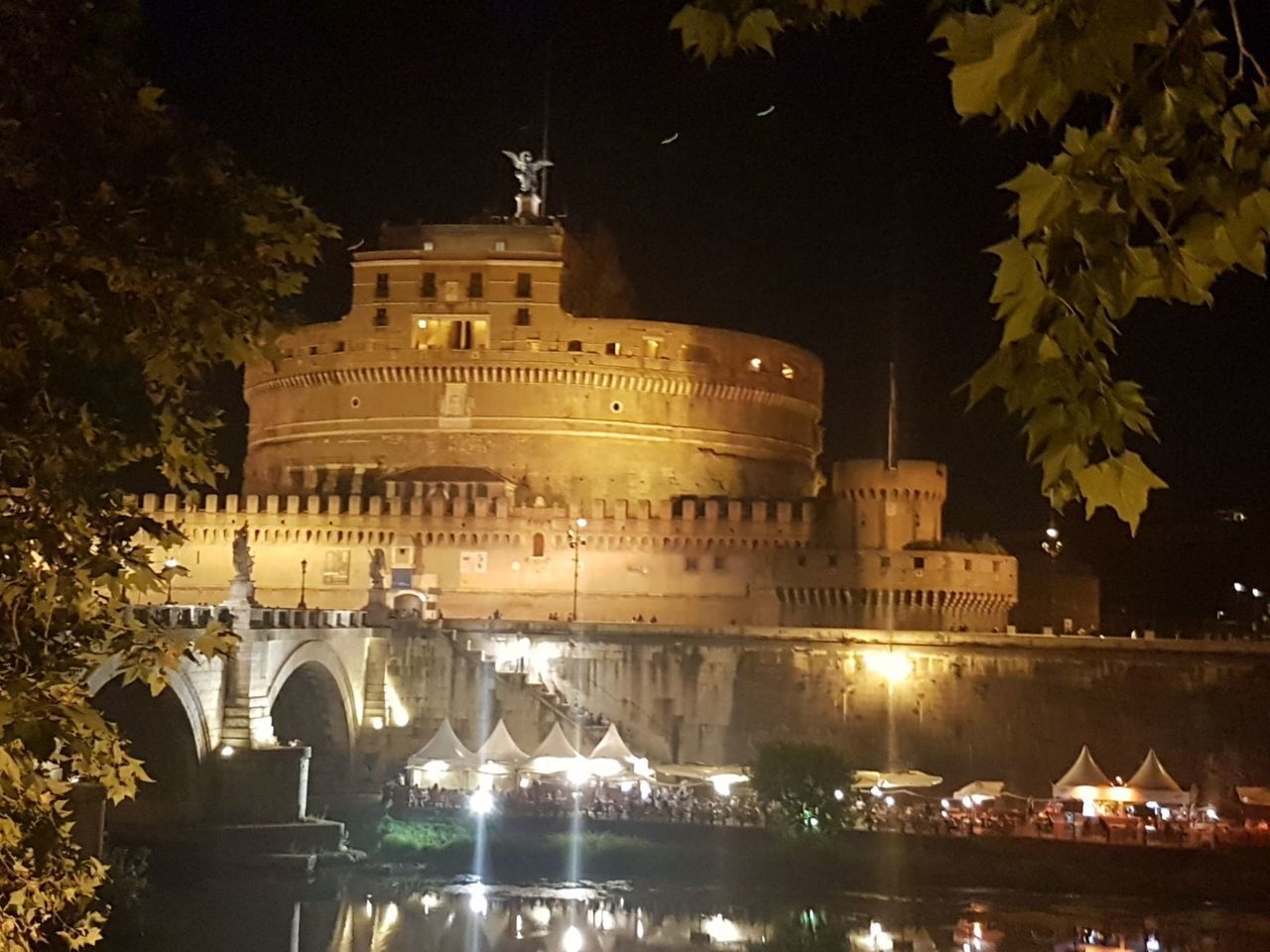 night, history, architecture, illuminated, built structure, building exterior, tree, outdoors, travel destinations, ancient, no people, nature, sky