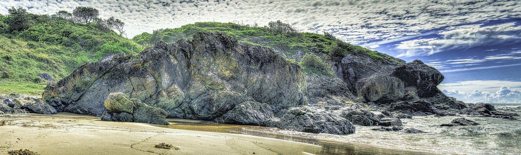 HDR Panorama Seascapes Port Macquarie Australia Beach Landscape Landscape_Collection EyeEm Best Shots - Landscape Rocks