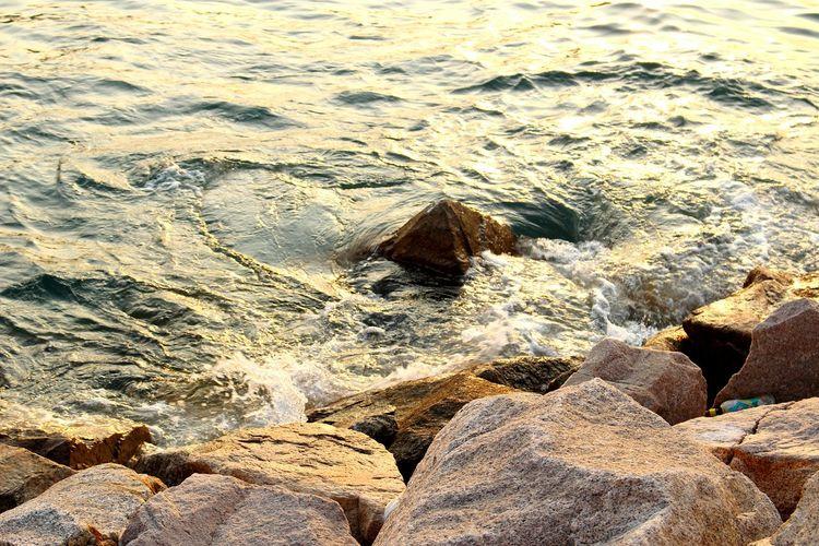 2015 Life In Hong Kong· Nature Photography Enjoying Life Tsuen Wan Seaside Sea_collection Sunset Hong Kong Rocks Nature