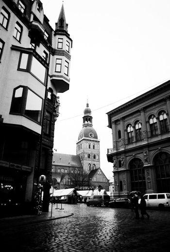 Riga Latvia Blackandwhite B&w M Best Shots Eye4photography  Cityscapes Architecture Eye4black&white  Streetphotography