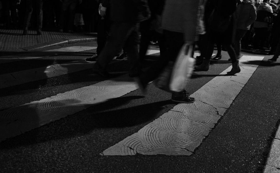 Pedestrian Pedestrian Crossing Pedestrians Pedestrianwalkway Pedestriancrossing Pedestrian Walk Crossing Crossing The Street Crosswalk Crossing The Road Walking Walking On The Street Nightphotography Night Photography Blackandwhite Black & White Streetphotography Streetphoto_bw Urban Geometry Urban Lifestyle Urbanexploration Hurry Up! Perspective People Walking  People Are People