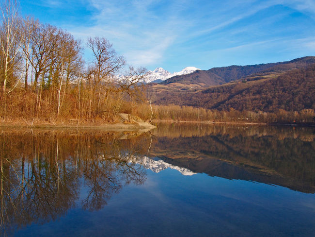 Reflection Alps Beauty In Nature Clam Day France France Alpes Grenoble Grenoble Alpes Lake Landscape Mountain Nature No People Outdoors Reflection Scenics Sky Tranquil Scene Tranquility Tree Water