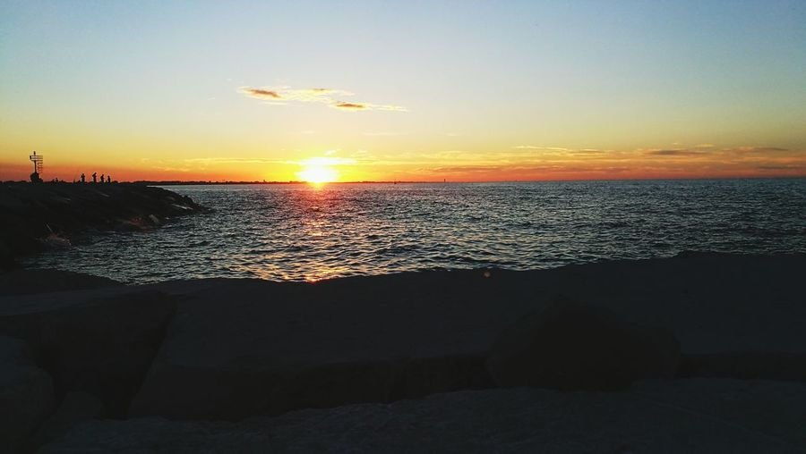 Sunset Beach Sea Scenics Horizon Over Water Beauty In Nature Sand Sun Sky Tranquility Nature Water Tranquil Scene Travel Destinations Silhouette Summer Landscape Vacations Travel Photography Traveling Italy Night