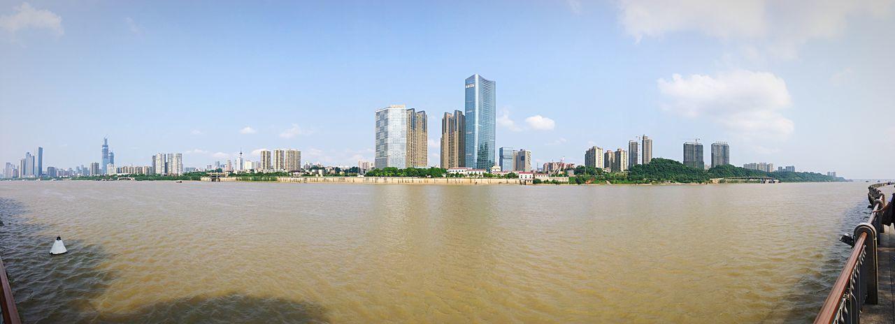 Changsha city Panorama, China Panorama View Panoramic Photography River View Cityscapes City View  Sky And City Iphone Panorama Changsha,China Changsha Town TOWNSCAPE Orange Isle Juzi Island