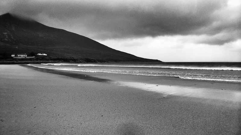 Life Is A Beach - no sun needed Black & White Ireland IPSSpace