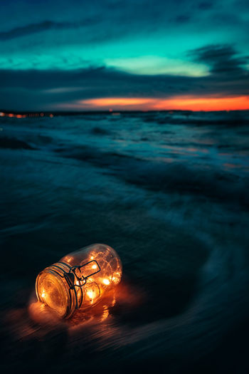 Nightglow Cloud Dark Fairy Matthias Church Storm Sunset_collection Waterscape Beauty In Nature Bottle Cloud - Sky Darkness And Light Day Dengler Exposure Nature No People Outdoors Scenics Sea Sky Snapshopped Sunrise Sunset Water Waterfront