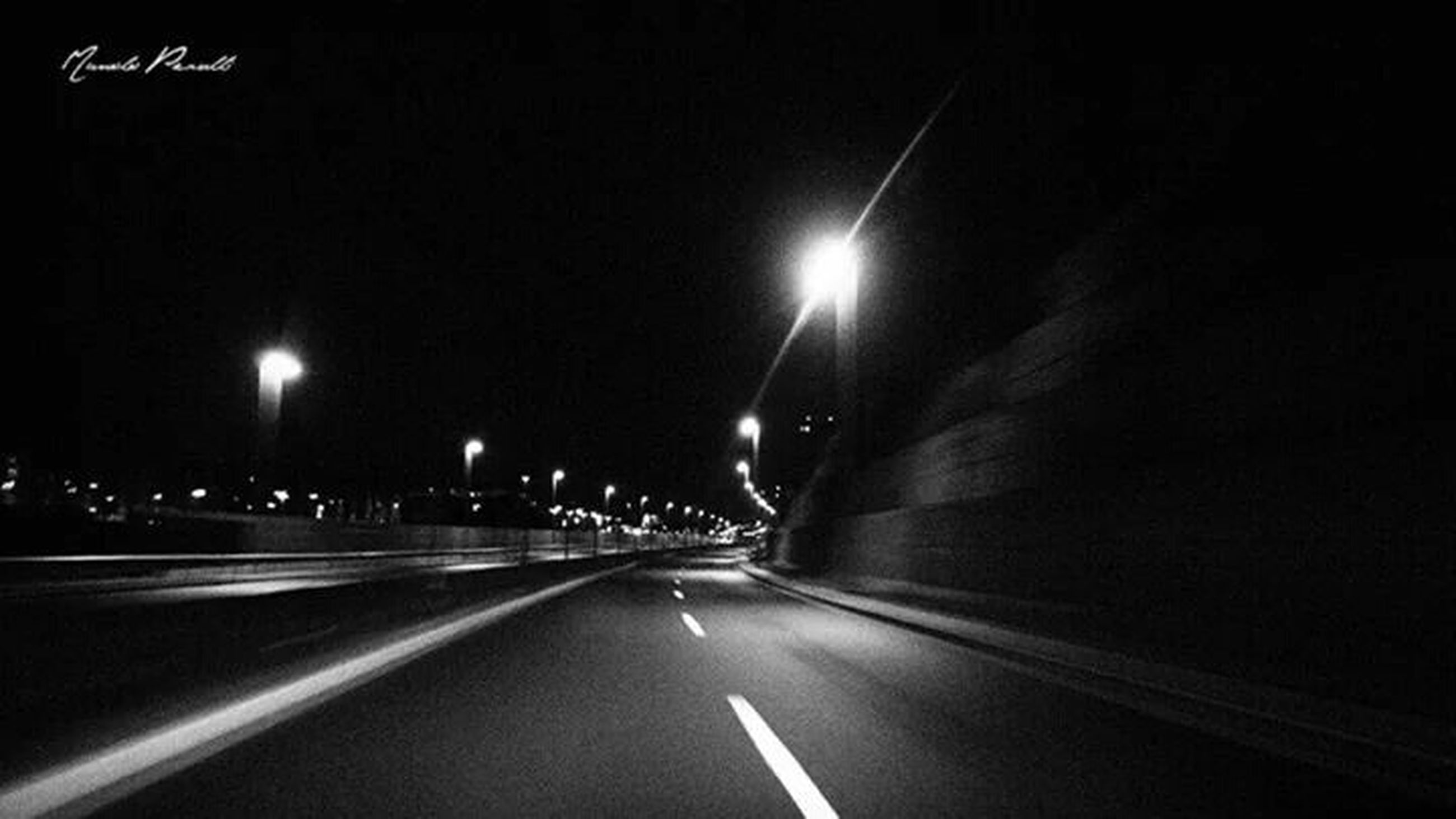 the way forward, transportation, illuminated, night, road, diminishing perspective, road marking, vanishing point, street light, street, lighting equipment, car, tunnel, empty, mode of transport, land vehicle, long, empty road, on the move, dark