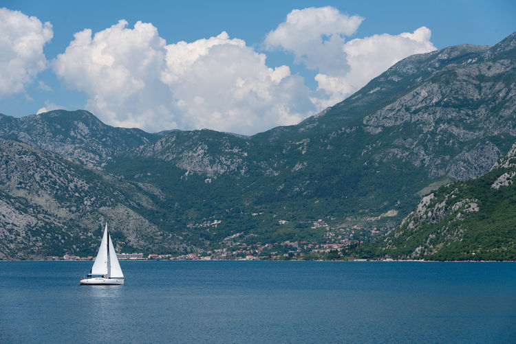 Kotor Bay Beauty In Nature Building Exterior Cloud - Sky Day Kotor Kotor, Montenegro Montenegro Mountain Mountain Range Nature Nautical Vessel No People Outdoors Sailboat Sailing Sailing Ship Scenics Sea Sky Tourism Tourism Destination Tourist Destination Tranquil Scene Water Waterfront