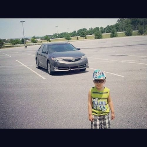 Cutiepie Nitya Mumma 's Boy car toyota camry nephew american baby lovehim cute