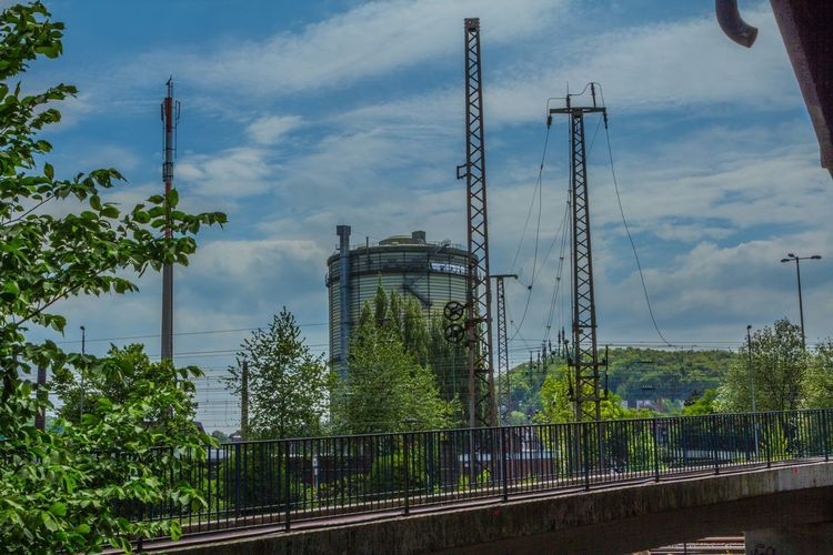 Gasboiler Architecture Built Structure Cable Cloud - Sky Connection Day Electricity  Electricity Pylon Factory Fuel And Power Generation Gas Boiler Part Growth Industry Low Angle View Nature No People Outdoors Sky Technology Tree