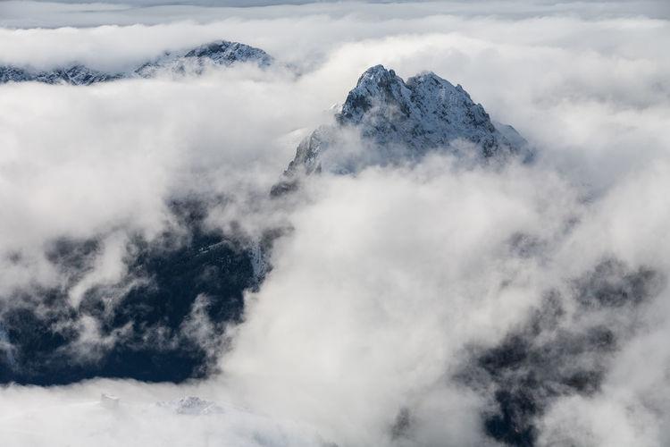 View from sass pordoi, dolomites. italy