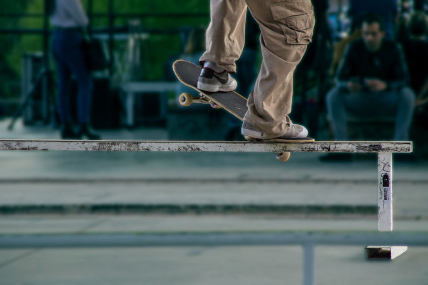 Skateboarding Skatepark Youth Youth Of Today Boy Boyfriend Boys Close-up Day Human Body Part Human Leg Leisure Activity Low Section One Person Outdoors People Real People Selective Focus Shoe Skate Skateboard Skateboarder Skatelife Skill  Standing