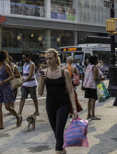 City Life Manhattan Woman Building Exterior Candid Candid Photography Casual Clothing Full Length Group Of People Legs Lifestyles Streetphotography Upper West Side Urban Walking