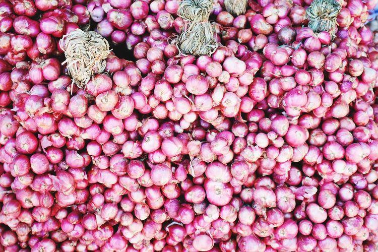Full frame shot of pink for sale at market