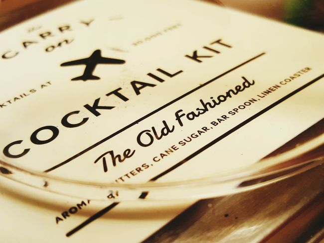 Have a nice flight! Flight Alcohol Airplaine Oldfashion Whiskey Yumm Drink Up Classy Fine Art Photography