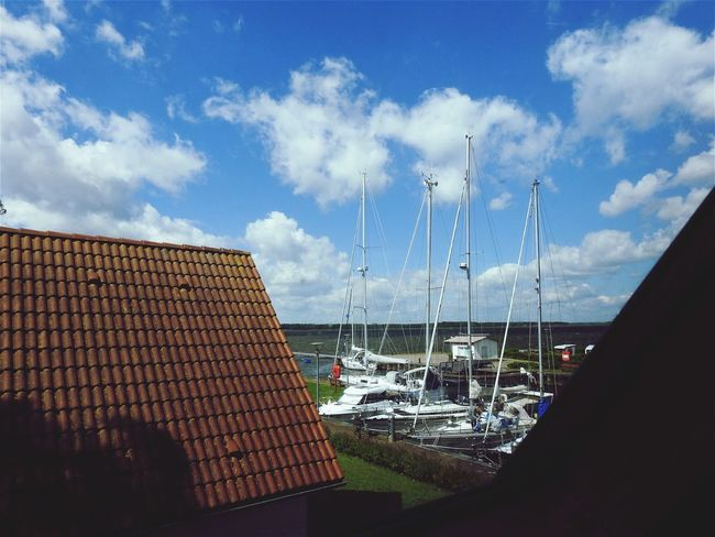 Sky Cloud - Sky Architecture No People Built Structure Day Transportation Building Exterior Outdoors Nautical Vessel Nature Water City Ostsee View Out Of The Window