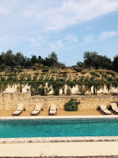 France Relaxing Rhône Travel Countryside Poolside South Of France Summer Swimming Pool Travel Destinations Turquoise Colored Vacation Water
