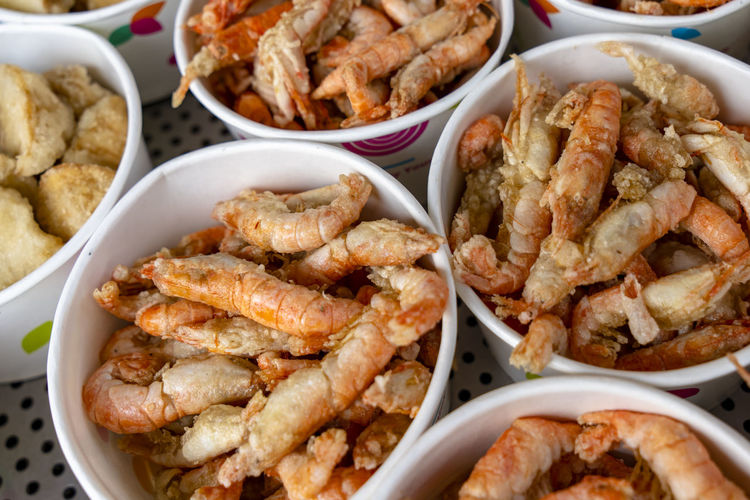 deep fried seafood on Taiwan street food Street Photography Street Food Taiwanese Food Deep Fried  Snack Time! Seafoods Paper Cup