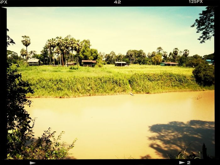 River Yom in summer, soon rain will come! River View Thailand Chumsang Amazing View