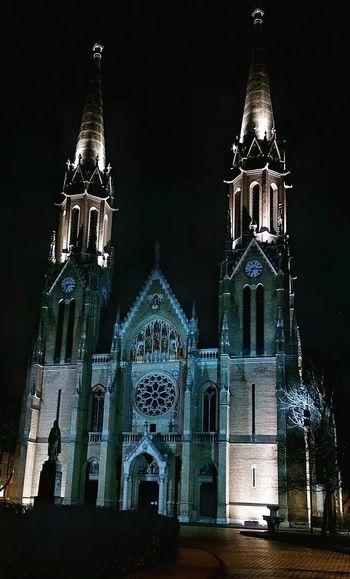 Catolich Church Gothic St.Elisabeth Night Photos