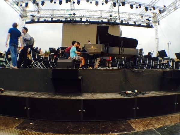 Lang Lang rehearsing in Byblos on Wednesday July 2nd 2014