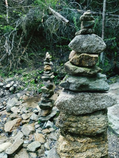 Stonepile Stones & Water Cairn Taking Photos Tyrol Forestwalk Nature's Diversities