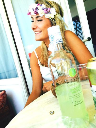 Smiling Mylove Enjoying Life Hippielife Peace And Quiet And Mojito