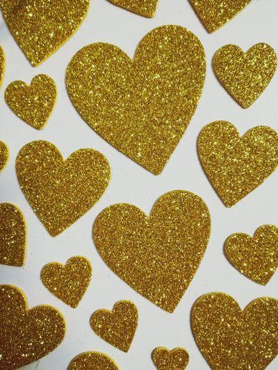 Heart ❤ Gold Oro Cuore❤ Amore Love Brillantini Love