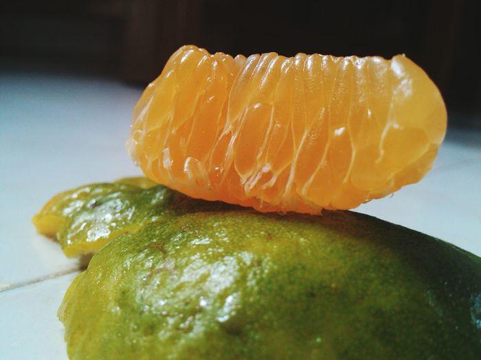 Detail Shot Of Orange Slice
