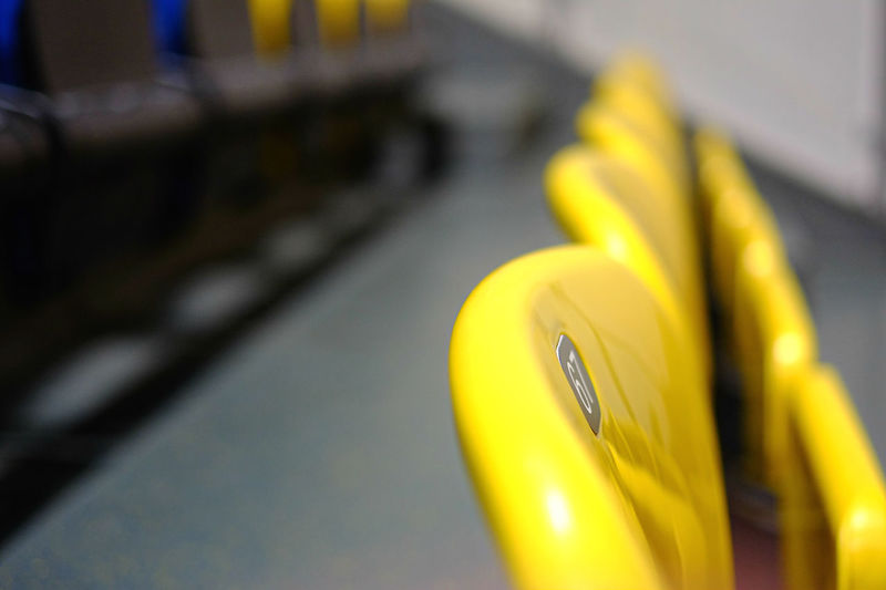 67.... Deceptively Simple EyeEm Gallery Is This Seat Taken? Paint the Town Yellow Close-up Day Eyeem Market Focus On Foreground No People Numbers Outdoors Selective Focus Transportation Yellow Yellow Color