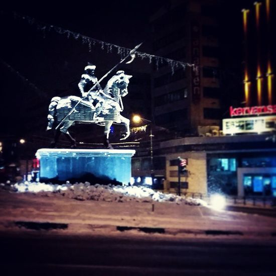 Bursa Bursakarmanzarası Fomara Osmangazi Snow Snowfall Snowynight Sculpture Night Kervansaray