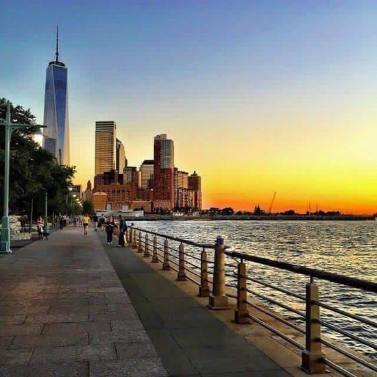 Freedomtower Sunset NYC New York City New York Dock WorldTradeCenter Downtown Colorful Battle Of The Cities
