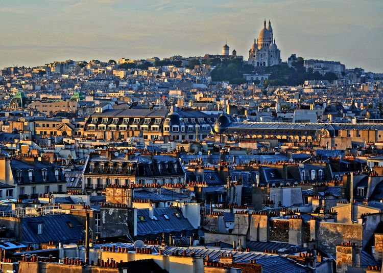43 Golden Moments Architecture Building Exterior Built Structure Cityscape Outdoors Paris Sacre Cœur Paris ❤ Residential District Sunset TOWNSCAPE Travel Destinations
