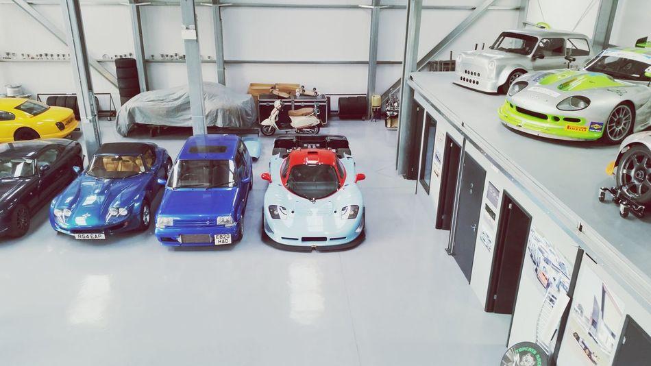 Dream garage Racecar Corvette Marcos Tvr